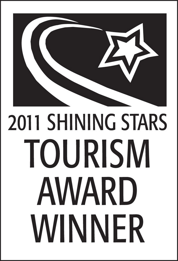 2011 Rising Star Award from the Shining Star Tourism Awards